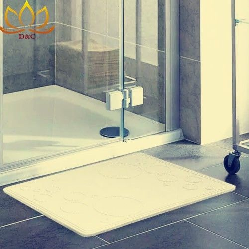Fast Drying Soil Diatomite Bath Mat Bathroom Ma...