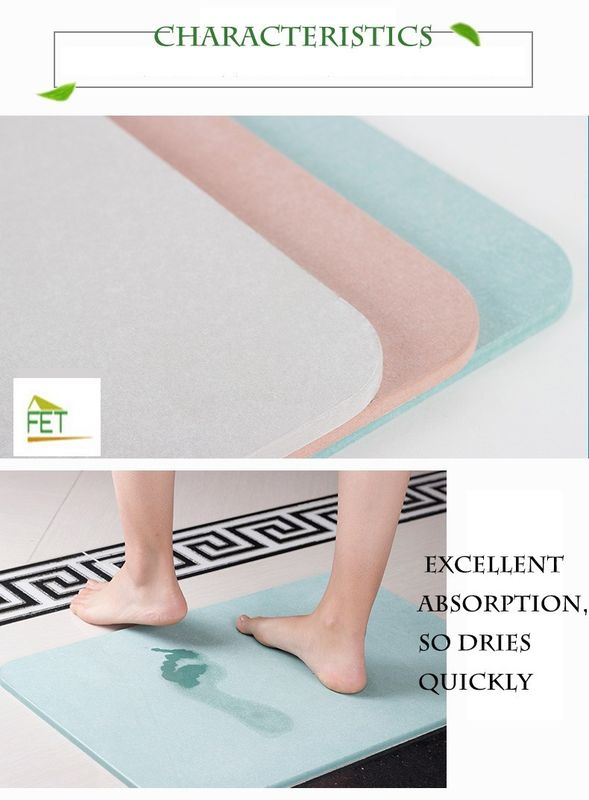 diatomaceous earth bath mat  highly absorbent a...