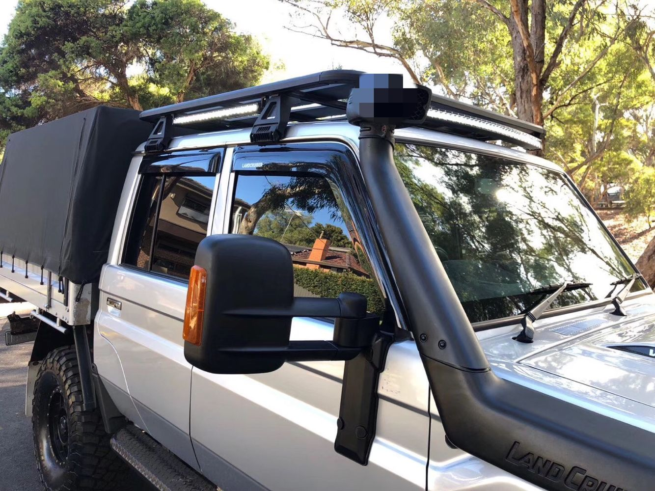 hot sales towing mirror for the TOYOTA LANDCRUISER L70 SERIES -L80 SERIES .