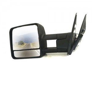 Replacement For Toyota Landcruiser Towing Mirror Electric Black Signal Hf-7301b