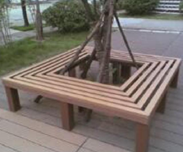 Wood plastic Bench
