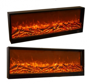 Brightness Adjustable 3D Flame Decorative Room Heater Electric Fireplace