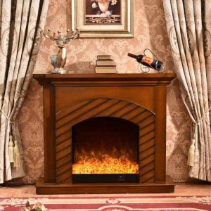 Wood Carving Fireplace With Fireplace Mantel 344 F2