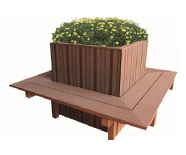 Wood plastic flower box