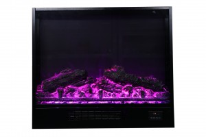 Flame Ynstellings Sideline Electric Fireplace realistyske Colorful Flame Fan Heater