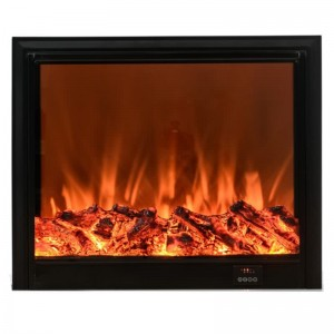 wall mounted&insert LED electric fireplace with flat tempered glass facial by radio frequency control-EMP-004