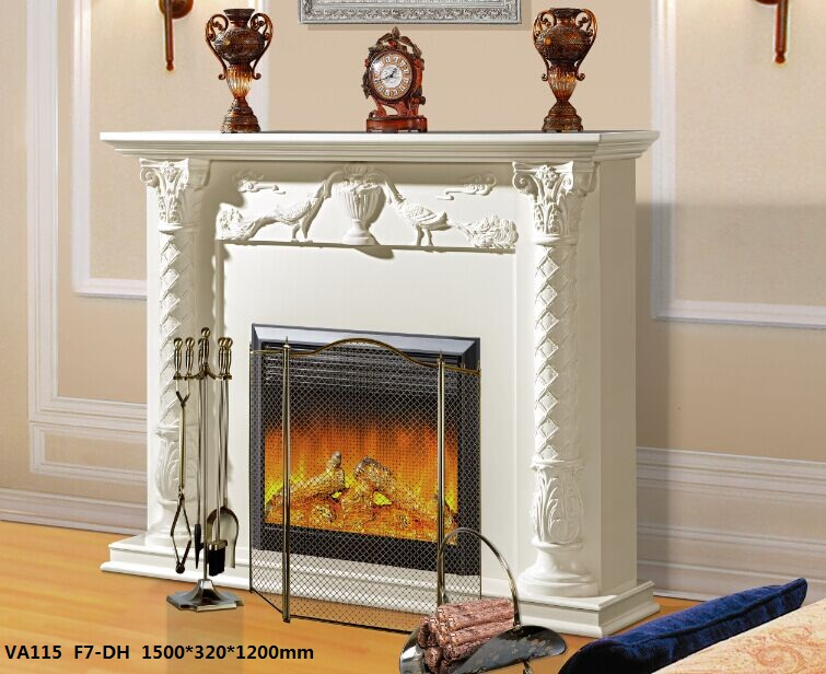 LED Simulation Fire Electric Fireplace09
