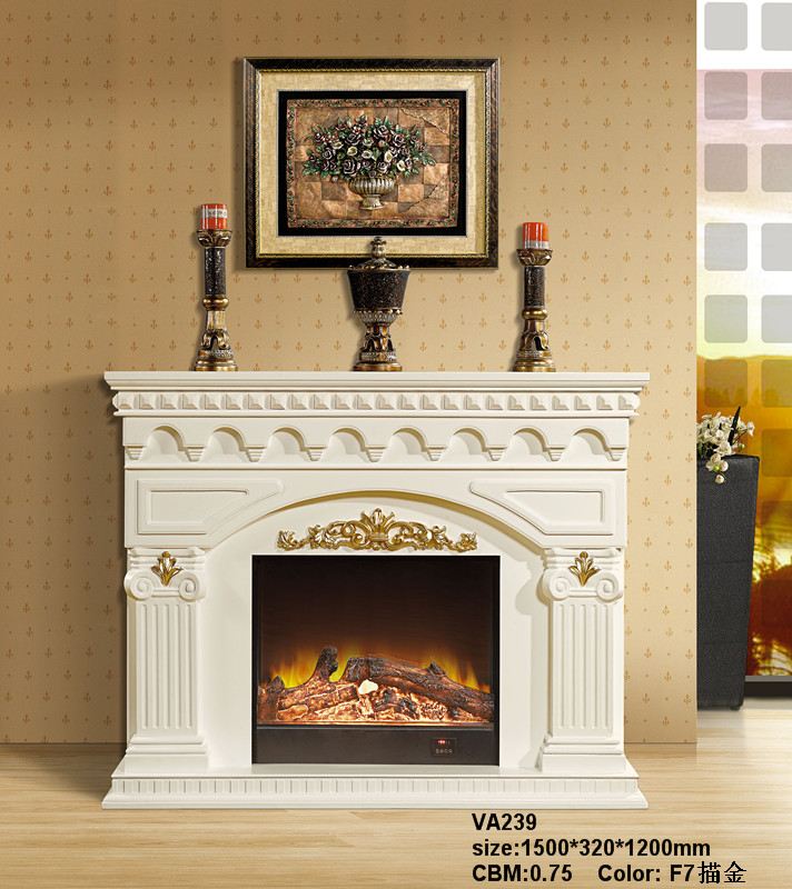 LED Simulation Fire Electric Fireplace04