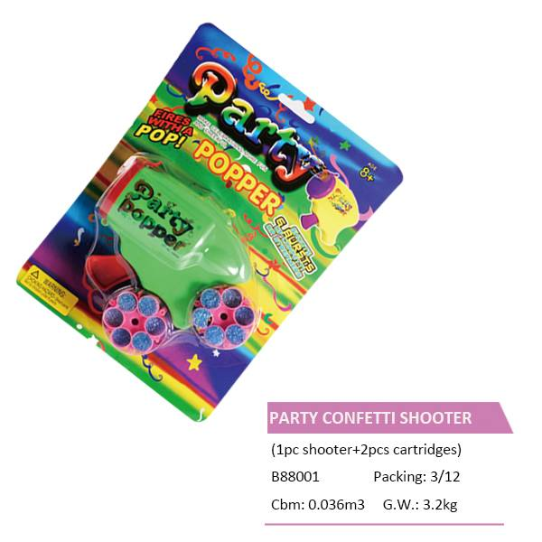 B88001 CONFETTI SHOOTER and CARTRIDGES