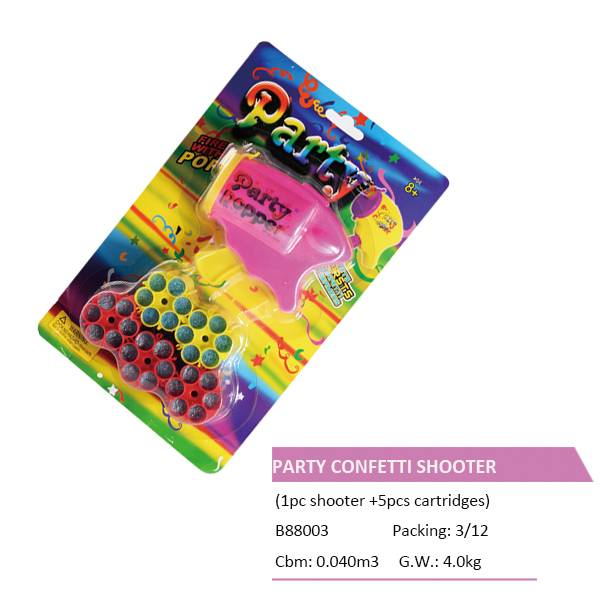 B88003 CONFETTI SHOOTER and 5 CARTRIDGES