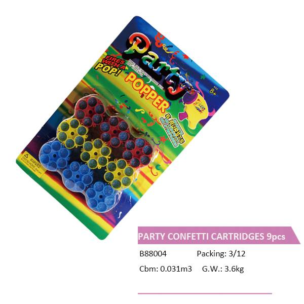 B88004  CONFETTI CARTRIDGES 9PCS