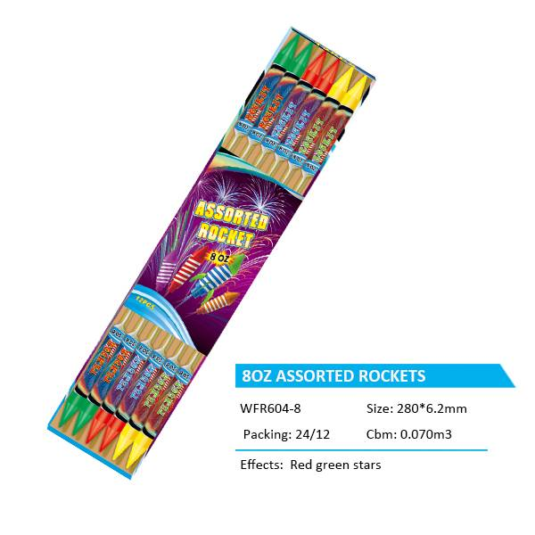WFR604-8  8OZ ASSORTED ROCKETS