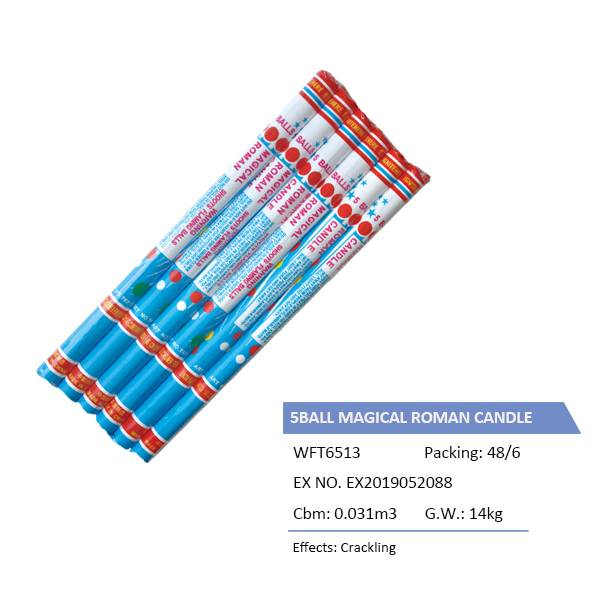 WFT6513  5BALL MAGICAL ROMAN CANDLE