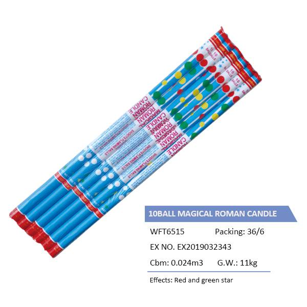WFT6515  10BALL MAGICAL ROMAN CANDLE