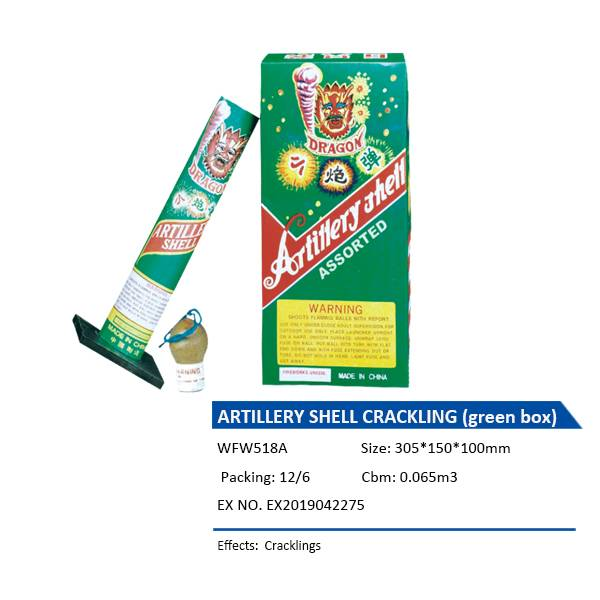 WFW518A  ARTILLERY SHELL CRACKLING (green box)