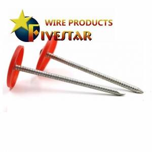 Plastic cap roofing nails