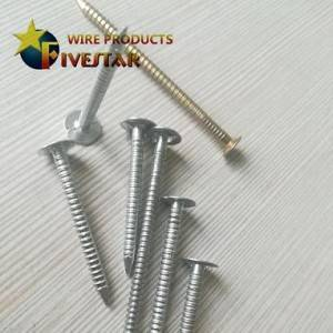 Ring shank roofing nails