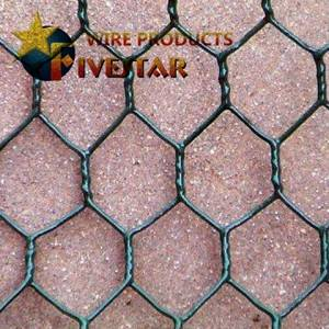 Hot dipped galvanized hexagonal wire netting