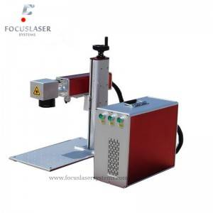 Portable fiber  Laser Marking laser machine for engraving vinyl records
