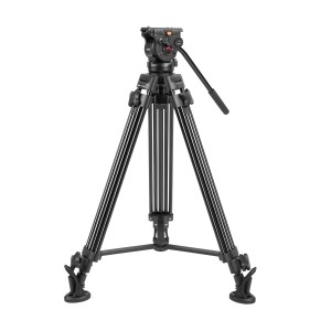 NT-660 Classic Professional Heavy Duty Video Tripod  With Fluid Head Mid-Level Spreader