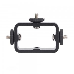 Triple Three Head Phone Mount Adapter Camera Flash Holder Bracket Light Stand Holder