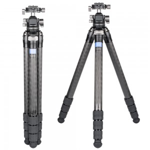139cm Professional Heavy Duty Carbon Fiber Video Camera Tripod with Low Profile Ball Head