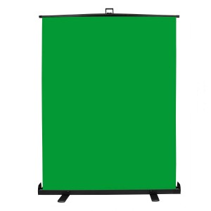 Professional Video Green Screen Backdrop Pull-up Style Portable Collapsible Chroma key Background Panel