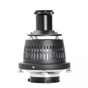 Optical Snoot Spotlight Concentrator for Studio Flash LED Light 50mm Lens Built-in Geometry Graphics Adjustment
