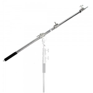 Stainless Steel Studio Photo Telescopic Boom Arm Top Light Stand Cross Arm Mini Boom chrome-plated