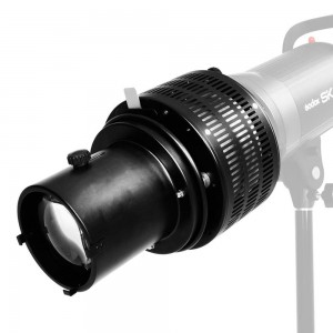 Aluminium Studio Conical Spot Snoot with Bowens Mount Optical Focalize Condenser Flash Concentrator for Spotlight LED Light