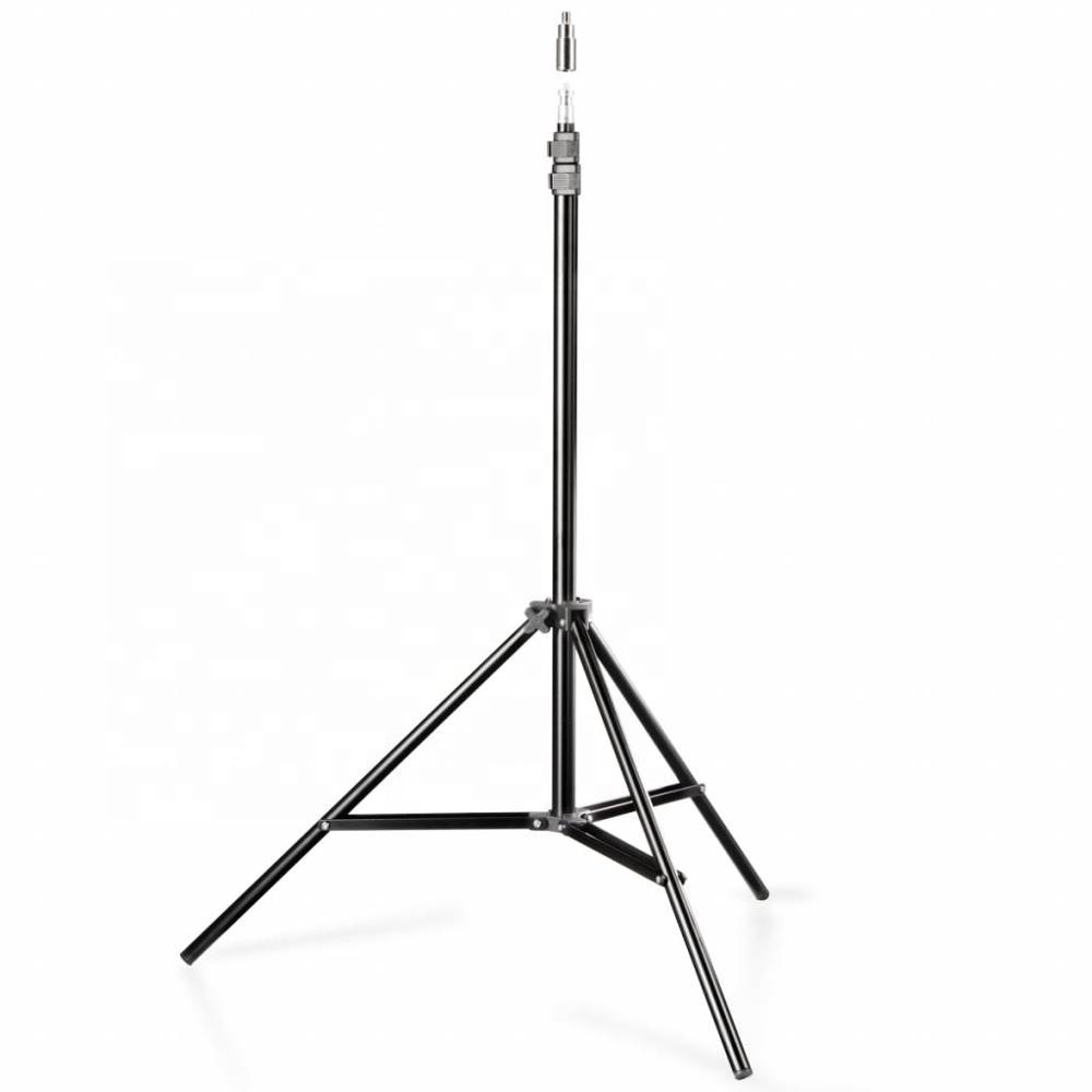 Photo Video Aluminum Adjustable 2m Light Stand with Case Spring Cushion for Softbox, Umbrella, Ring light