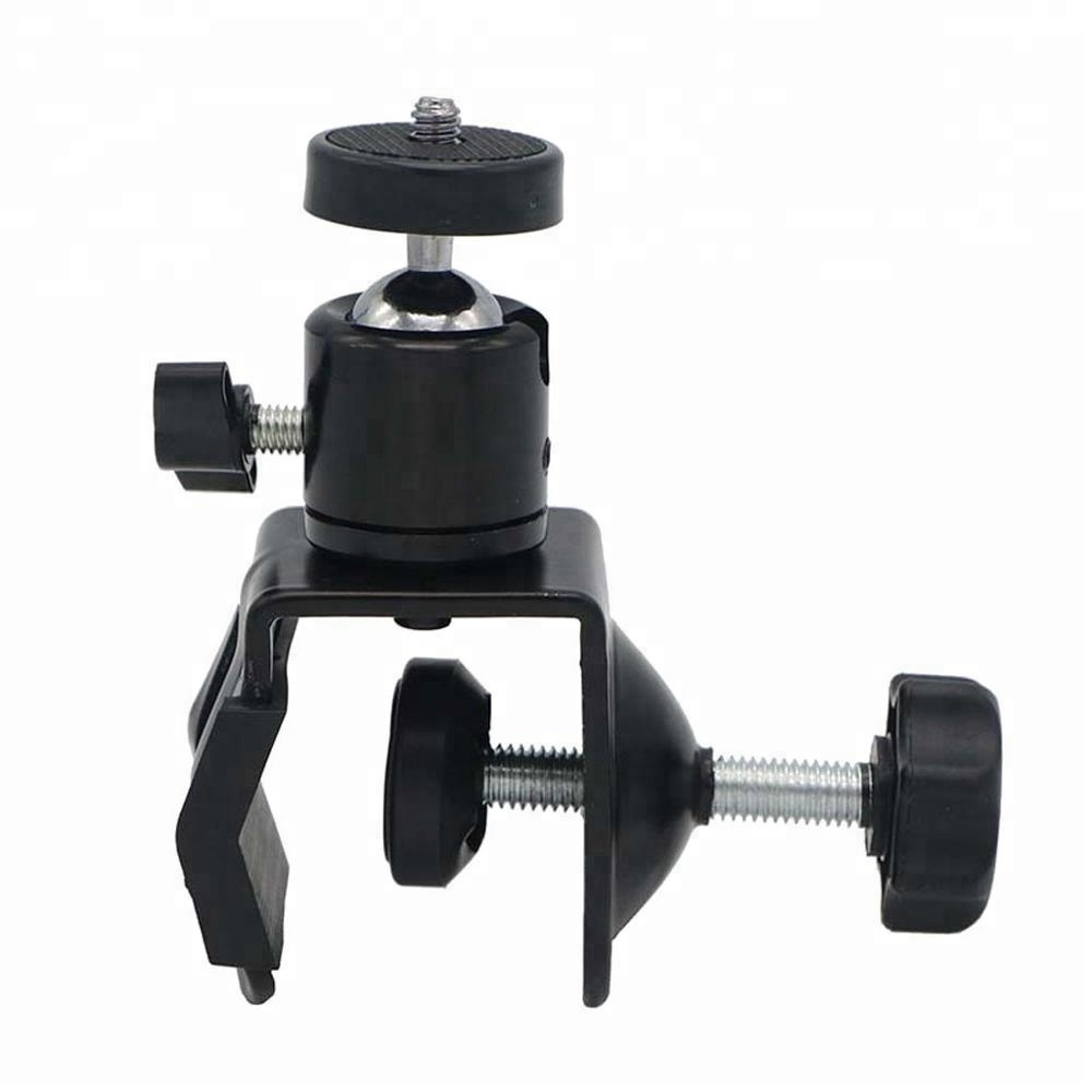 C/U Clip Clamp Mount Reflector Flash Holder with Ball Head