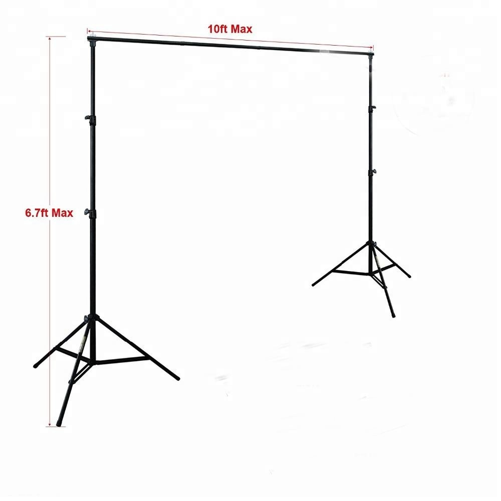 3m 10Ft Photography Background Support Stand Photo Backdrop Crossbar Kit Adjustable