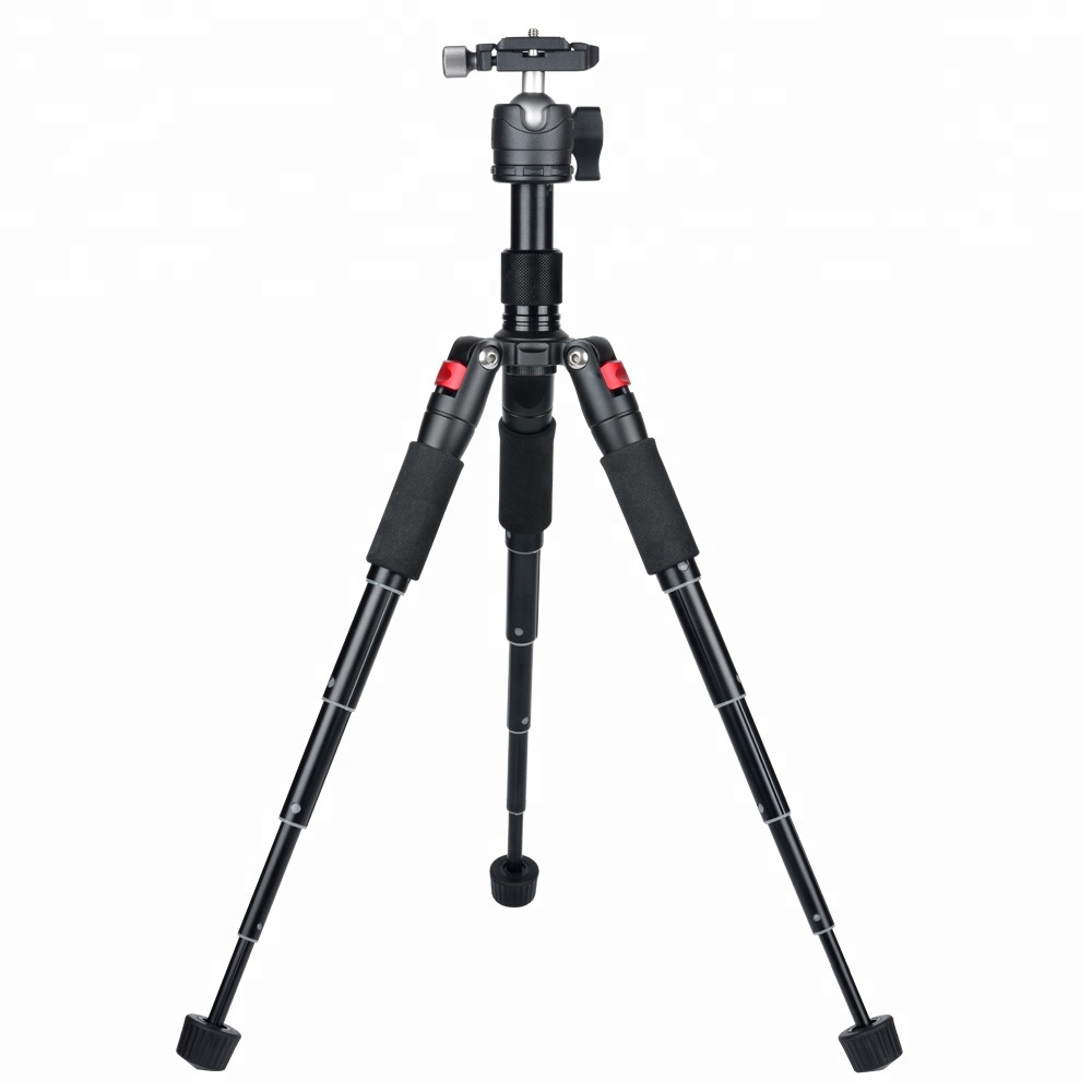 Adjustable Portable Compact Desktop Tabletop Macro Mini Camera Tripod with 360 Degree Ball   Head,1/4 inches Quick Release Plate