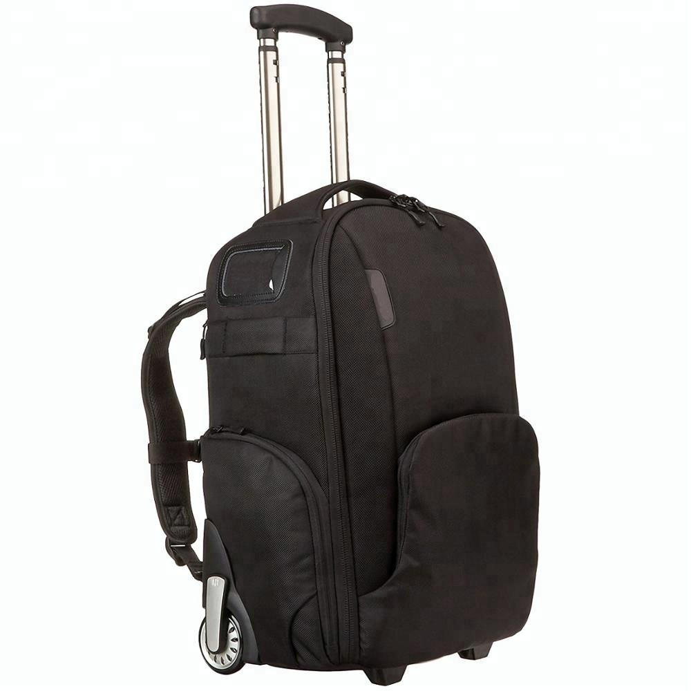 Convertible Rolling Camera Backpack Bag Trolley Case