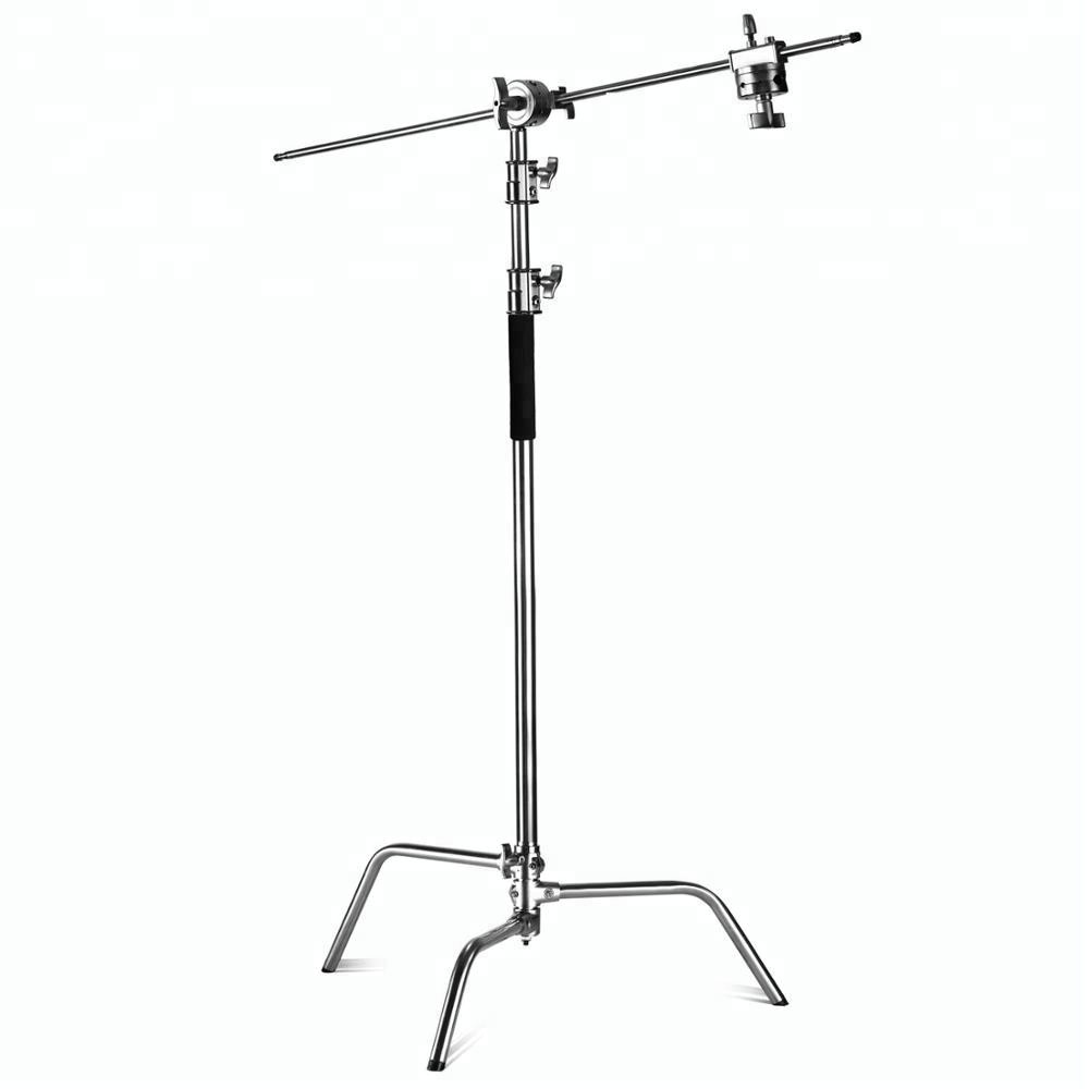Heavy Master Stainless Steel C-Stand with Boom Arm