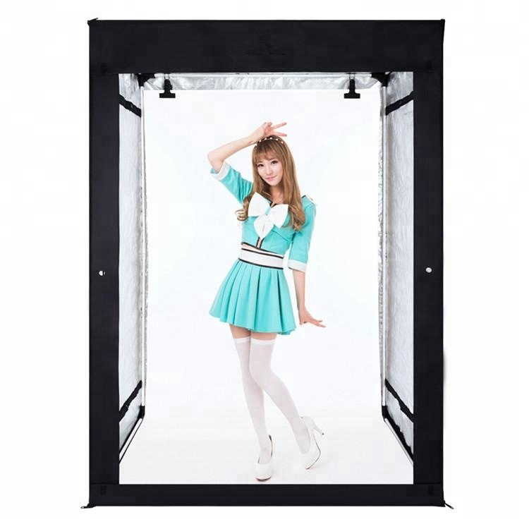 160x80x120cm LED Light Box Photo Studio Professional Photography Tent with LED Light 4 Backdrops
