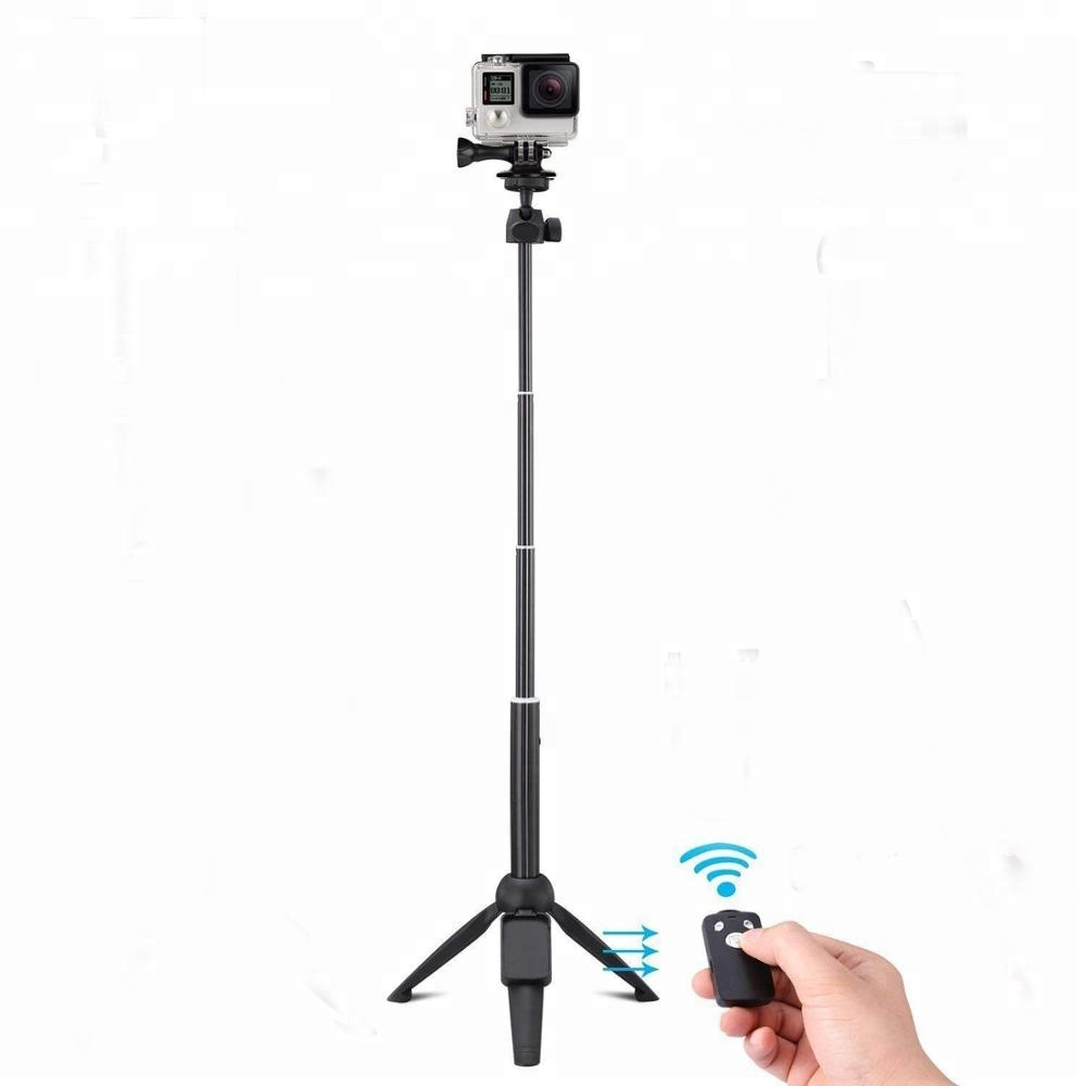 Portable 100cm Universal Bluetooth Selfie Stick Tripod with Wireless Remote, Extendable Mini   Handheld Monopod 360 degree Live