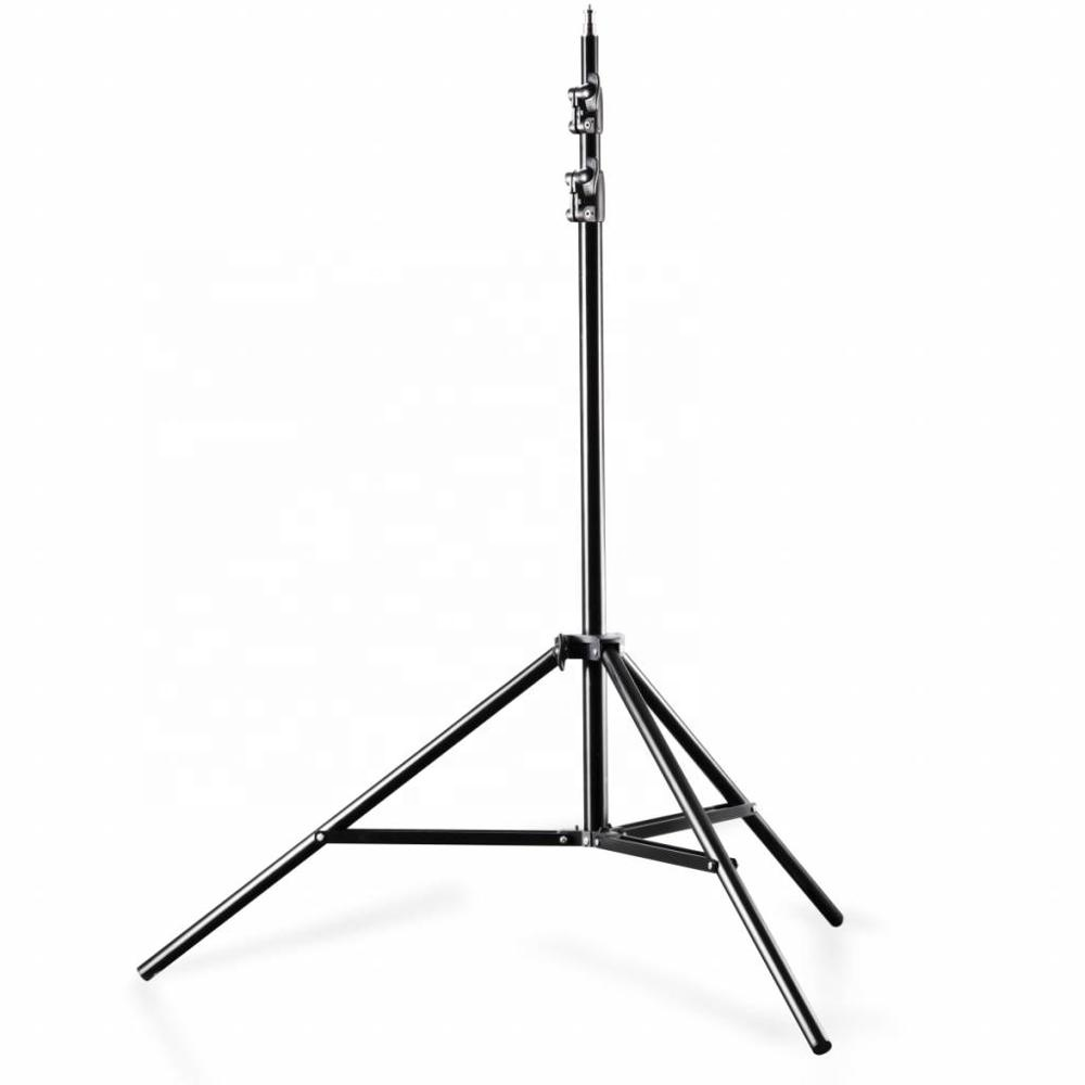 Photo Video Aluminum Adjustable 2.4m Spring Cushion Heavy Duty Light Stand