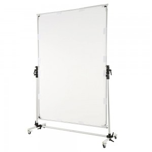 Sun Scrim Collapsible Frame Diffusion Black Silver Reflector Kit with Pulley Studio Solutions 150cm x 200cm Butterfly Diffuser
