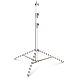 Stainless Steel Light Stand Heavy Duty Spring Cushioned Stand