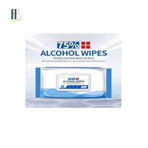 75 Degree alcohol wipes Large Bags Household Hygiene Hand Sanitizing Disinfection Wipes antibacterial 40 Pieces