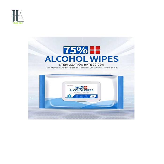 75 Degree alcohol wipes Large Bags Household Hygiene Hand Sanitizing Disinfection Wipes antibacterial 40 Pieces Featured Image