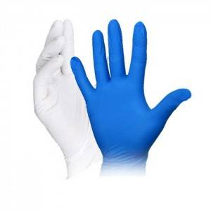 Disposable nitrile gloves blue, thickened for hospital home inspection and protection