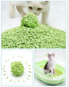 Top Grade Less track fast clumping tofu cat litter