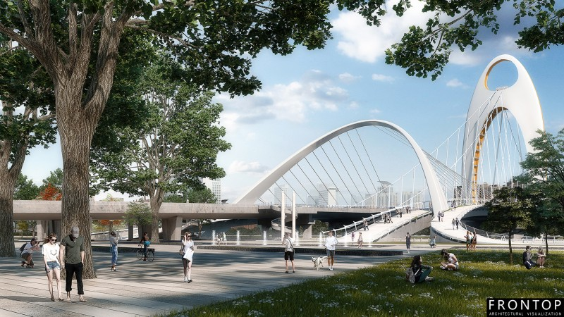 Renewable Design for 3d Visualization Outsourcing - Guangzhou Liede Bridge – Frontop