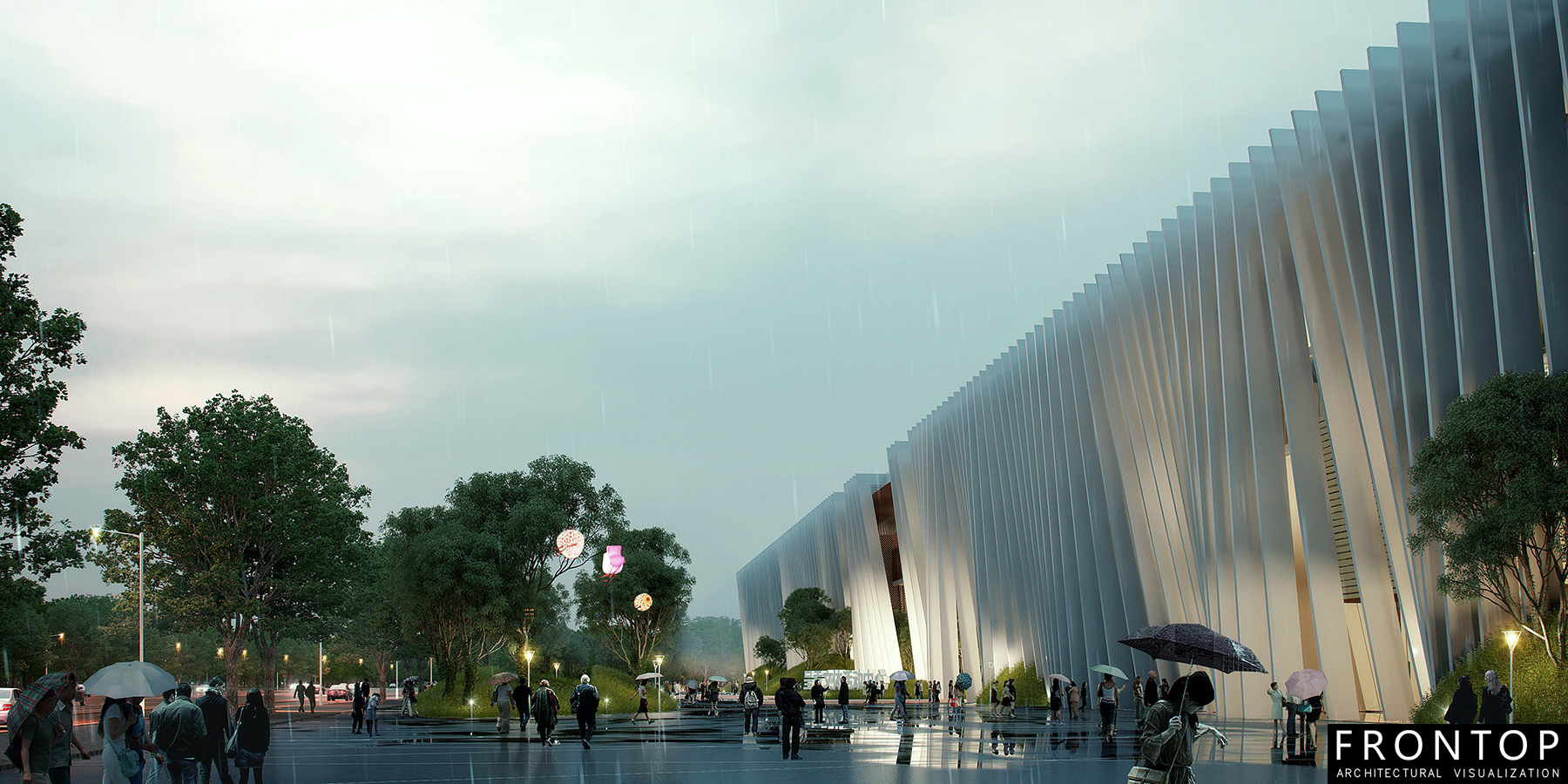 Online Exporter Archietcture Rendering - Chenggong District Cultural and Sports Center – Frontop