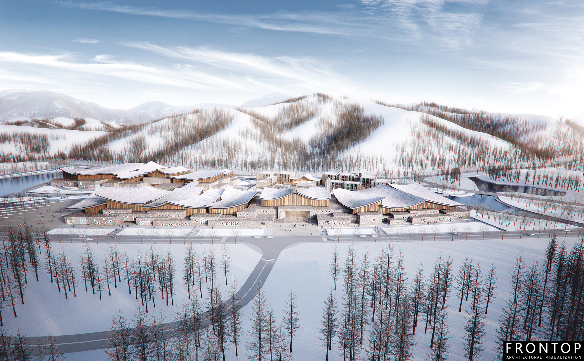 High Quality 3d Max Architecture Models - Winter Olympic Exhibition Center – Frontop Featured Image