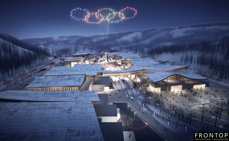 OEM Customized 3d Architectural Rendering Company - Winter Olympics Exhibition Center – Frontop