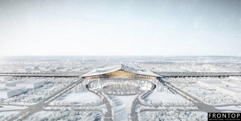 Massive Selection for Multiple Perspectives Display Showcase - Xiong'an High Speed Railway Station – Frontop